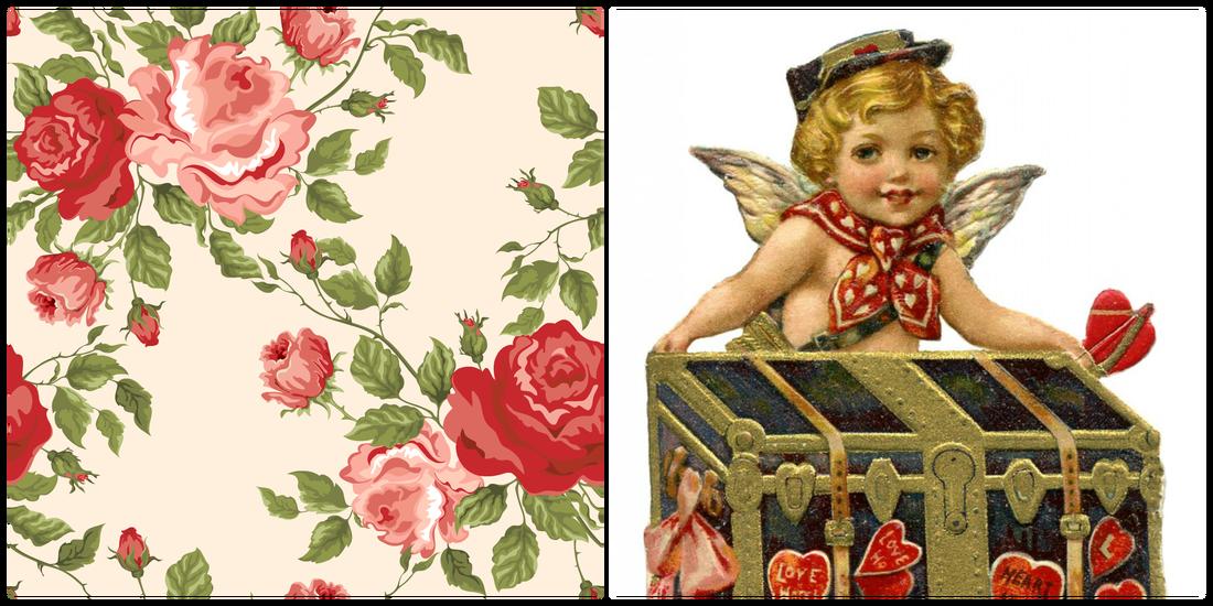 Vintage Valentine Printable Bi Fold card  Valentines Day