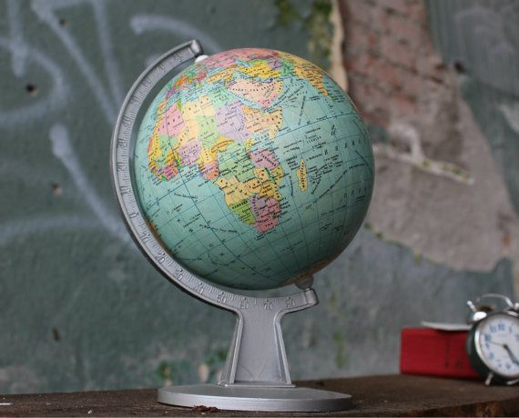 World globe desk globe vintage world map world atlas small world globe desk globe vintage world map world atlas by narmag gumiabroncs Image collections