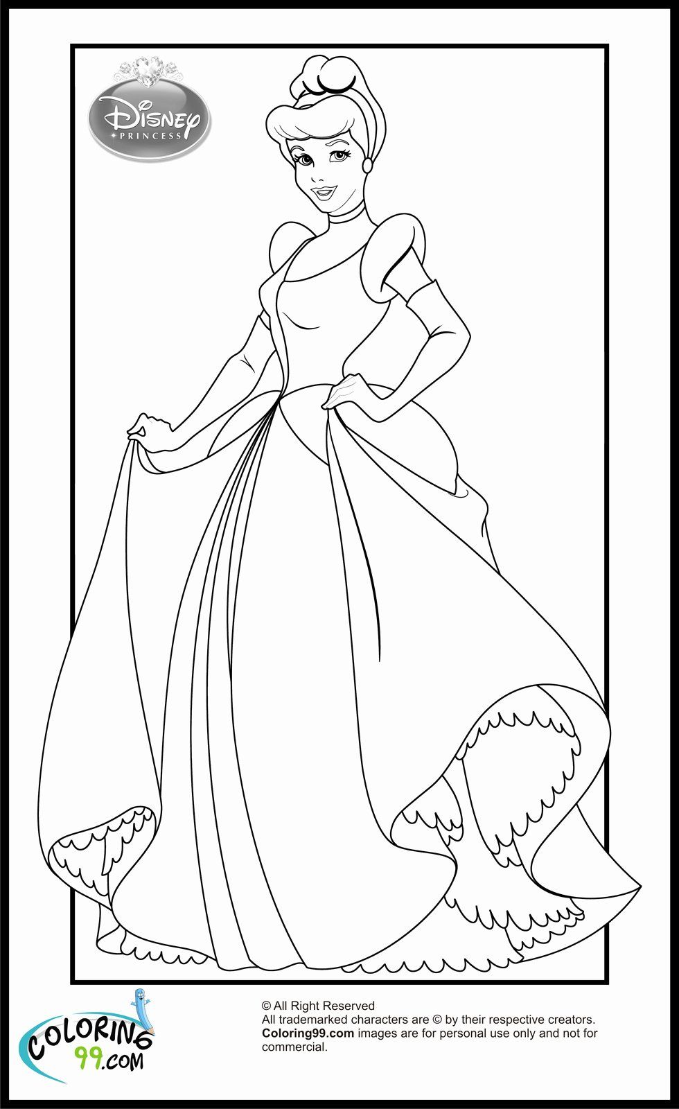 Coloring Pages Of Disney Princesses Awesome Disney Princess Cinderella Colorin In 2020 Cinderella Coloring Pages Disney Princess Coloring Pages Princess Coloring Pages