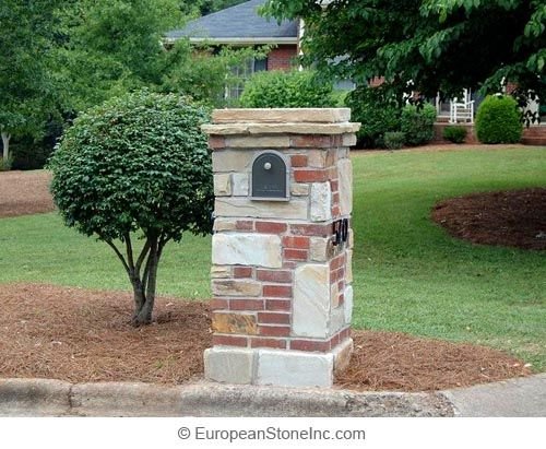 Brick And Stone Mailbox That Is Very Nicely Done Www Tigerstoneandbrick