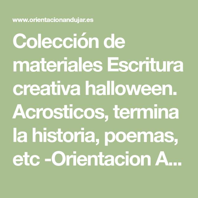 Colección de materiales Escritura creativa halloween. Acrosticos ...