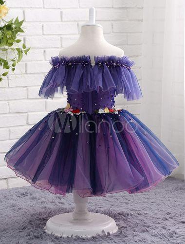 Lavender Flower Girl Dress Off The Shoulder Tutu Dress ...