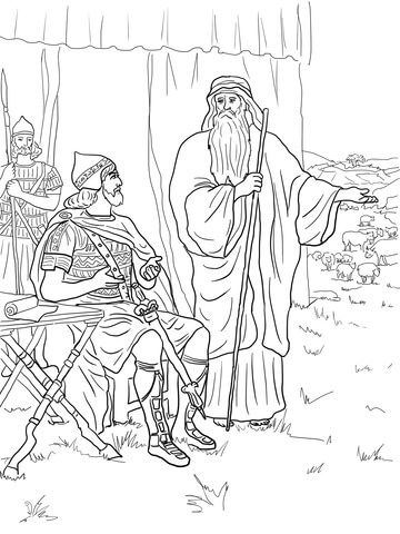 Samuel Anointing David King Bible Coloring Pages David Bible