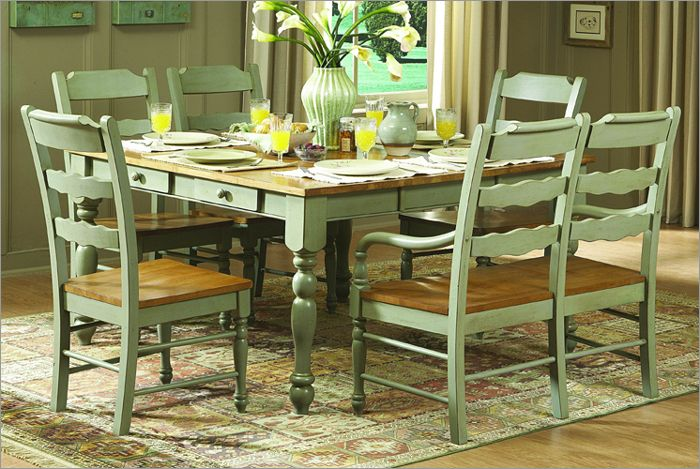 Sage Green And Wood Dining Room Home