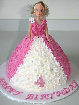 Pin By Lia Gan On Birthday Cakes For Kids Pinterest Barbie Cake