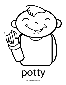 Toddlers Can Learn To Request A Bathroom Break With This Printable Toilet Training Sign Language Chart