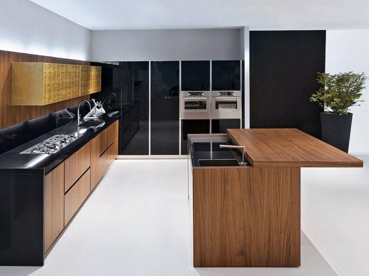 Meubles De Cuisine En Bois Par Biefbi Contemporary Style Kitchen Kitchen Furniture Small Kitchen Storage