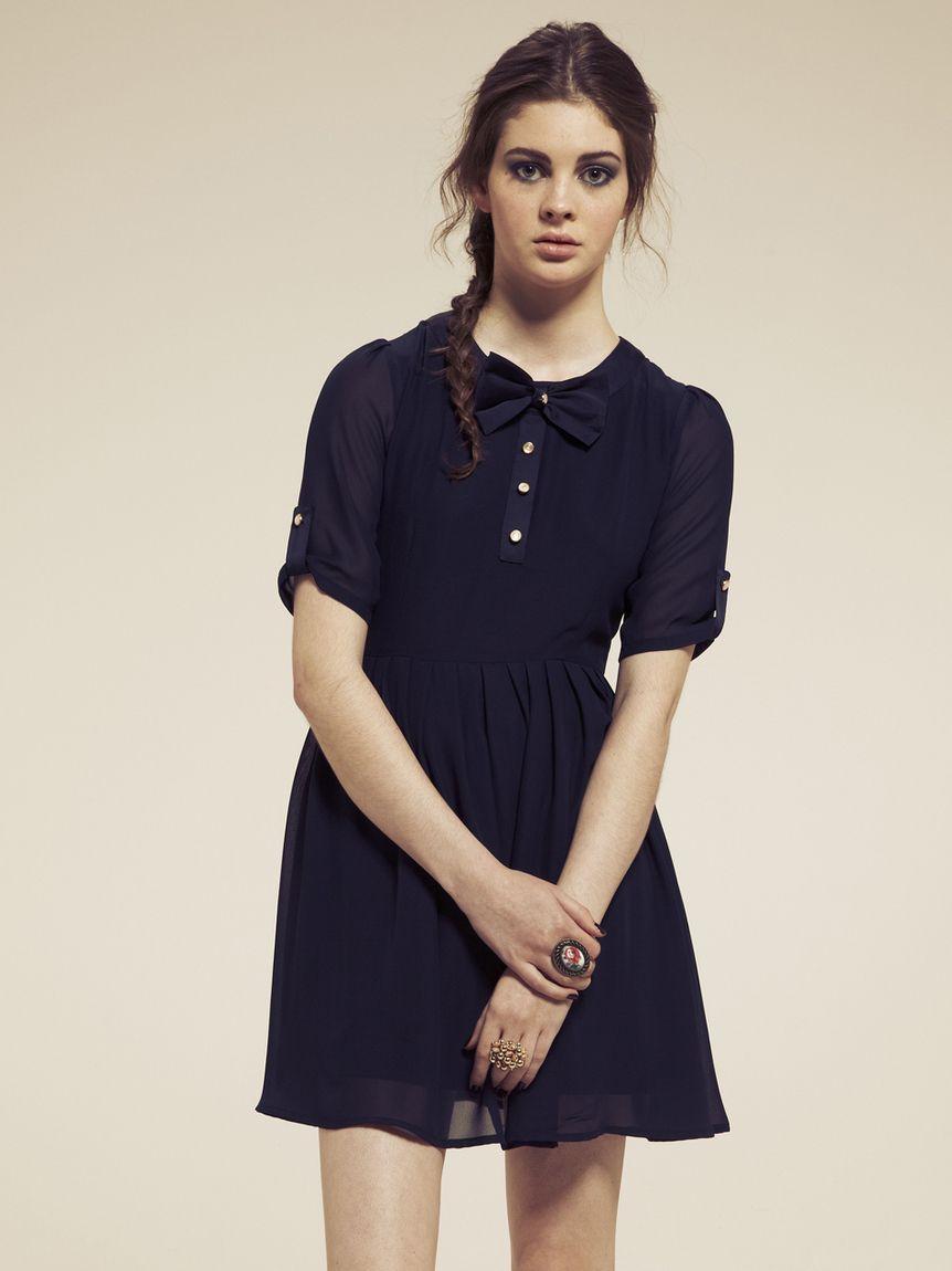 adorable navy dress.