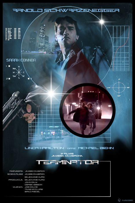 TERMINATOR - James Cameron - movie poster by P-Lukaszewski on DeviantArt