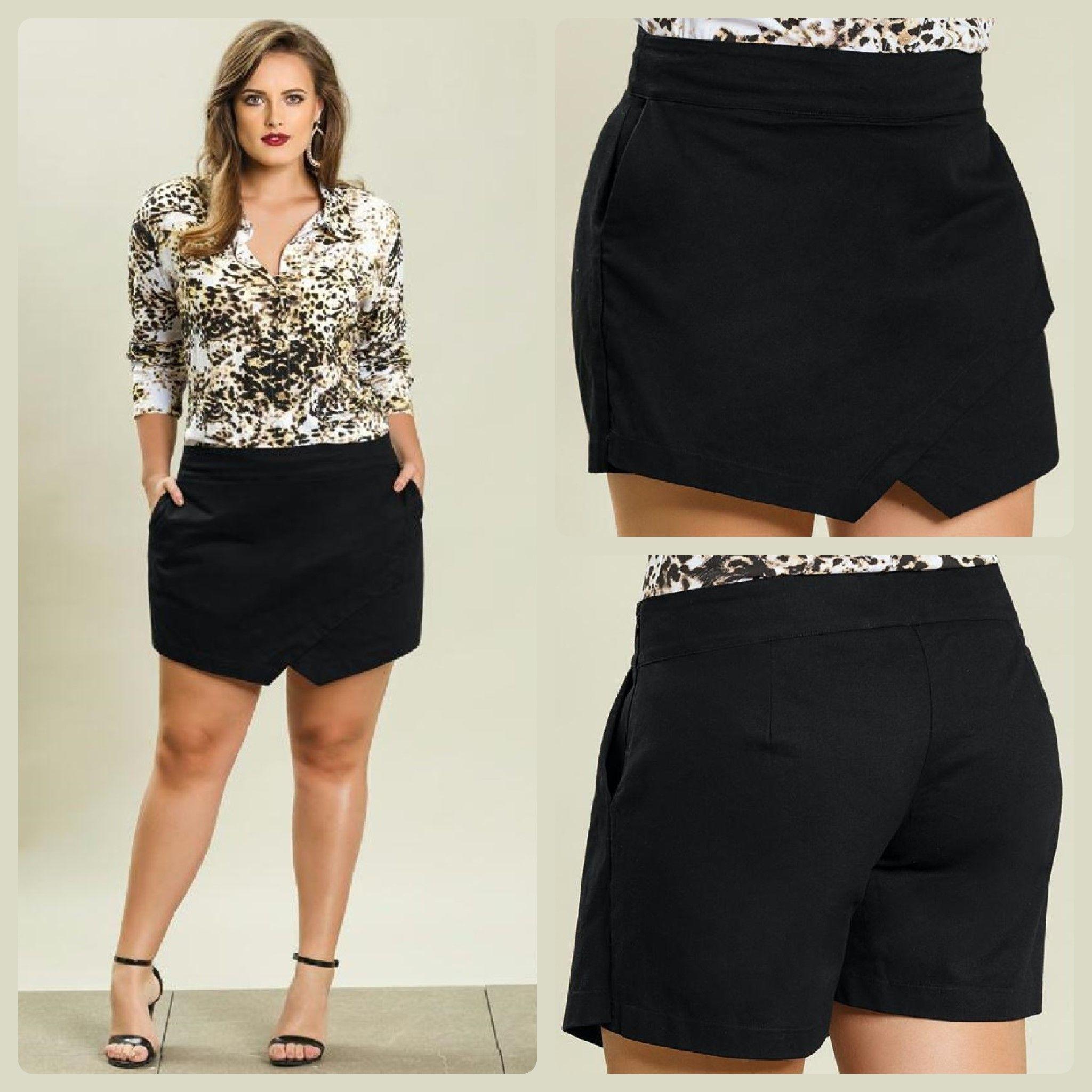 869931e3f0a86d LIQUIDAÇÃO ✂️ DE OUTONO Short saia Plus Size. De R$ 119 por R$ 99 ...