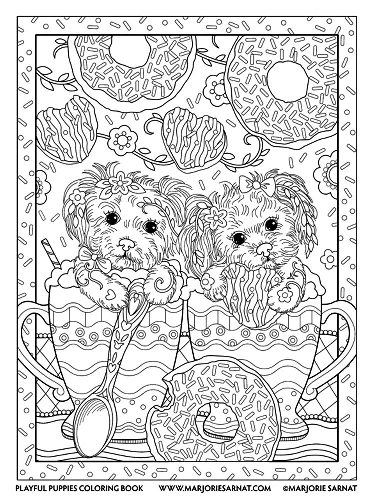 Marjorie Sarnat Playful Puppies Puppy Coloring Pages Dog Coloring Book Coloring Books