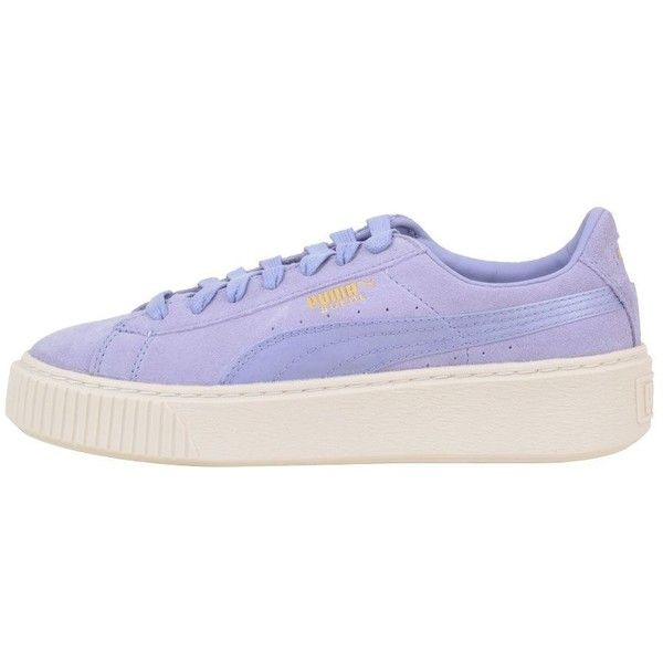 Lavender  Creeper Sneaker (310 PEN)  Lavender liked on Polyvore featuring 43e6e7