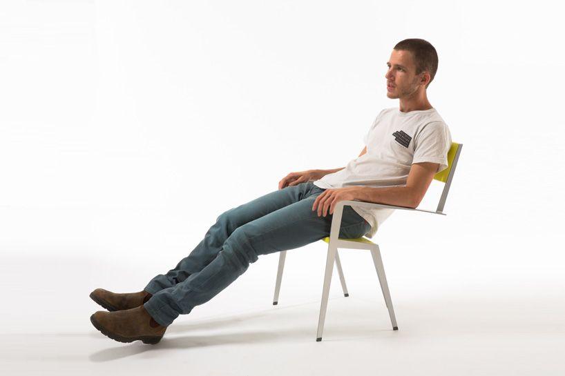 muli bazak's chaisecourte suggests a natural way to sit - designboom | architecture