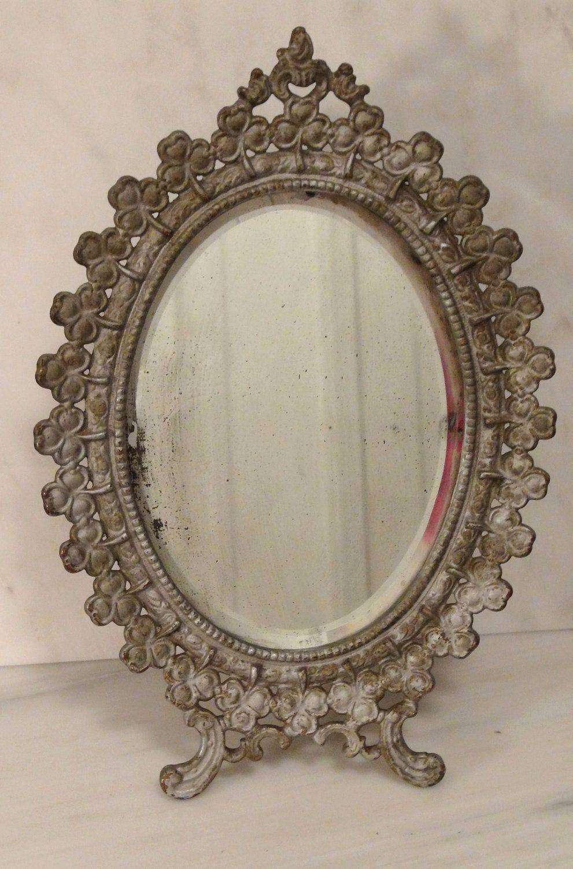 hair pin mirror brush matching hand antique set deco vintage vanity art beautiful