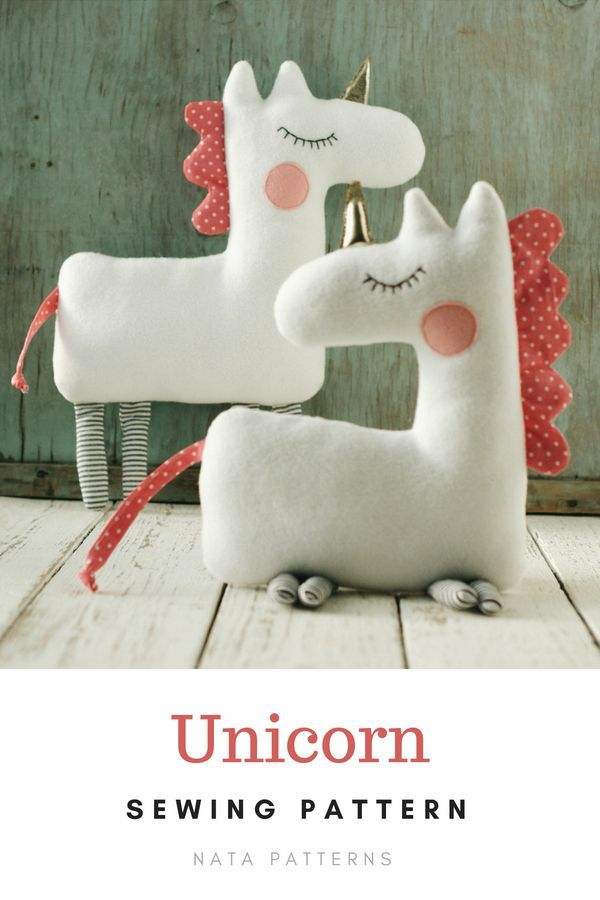 PDF unicorn pattern Unicorn gift Easy unicorn sewing Unicorn birthday PDF Beginner sewing pattern St #stuffedanimals