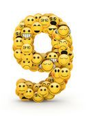 Número 9 de emoticonos Imágenes De Stock Sin Royalties Gratis