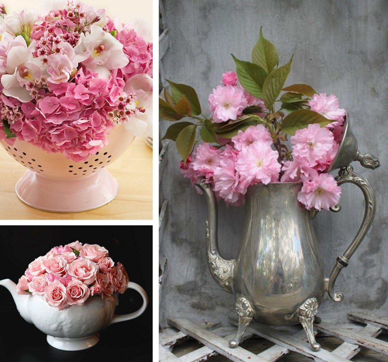 Decoracion de jarrones con flores fabulous unids ronda - Decoracion de jarrones ...