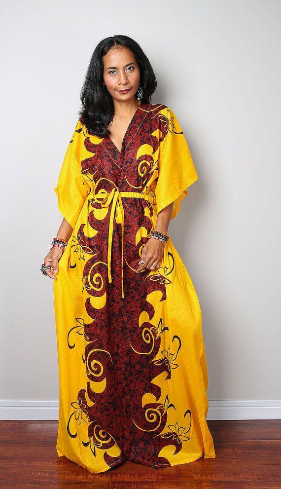 fd394055dd62b Boho Maxi Dress / African Dress / Caftan Long Summer Gown with Boho Print :  Bohemian Kaftan Collection No.1 | African Fashion | African dress, African  print ...