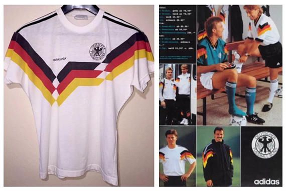 Vintage 1970s 1980s Adidas Germany Dfb Deutscher Football Soccer Thin Jersey Shirt Size M 60 Cotton 40 Polyester Made In Singapore See Meas Casacas Futbol