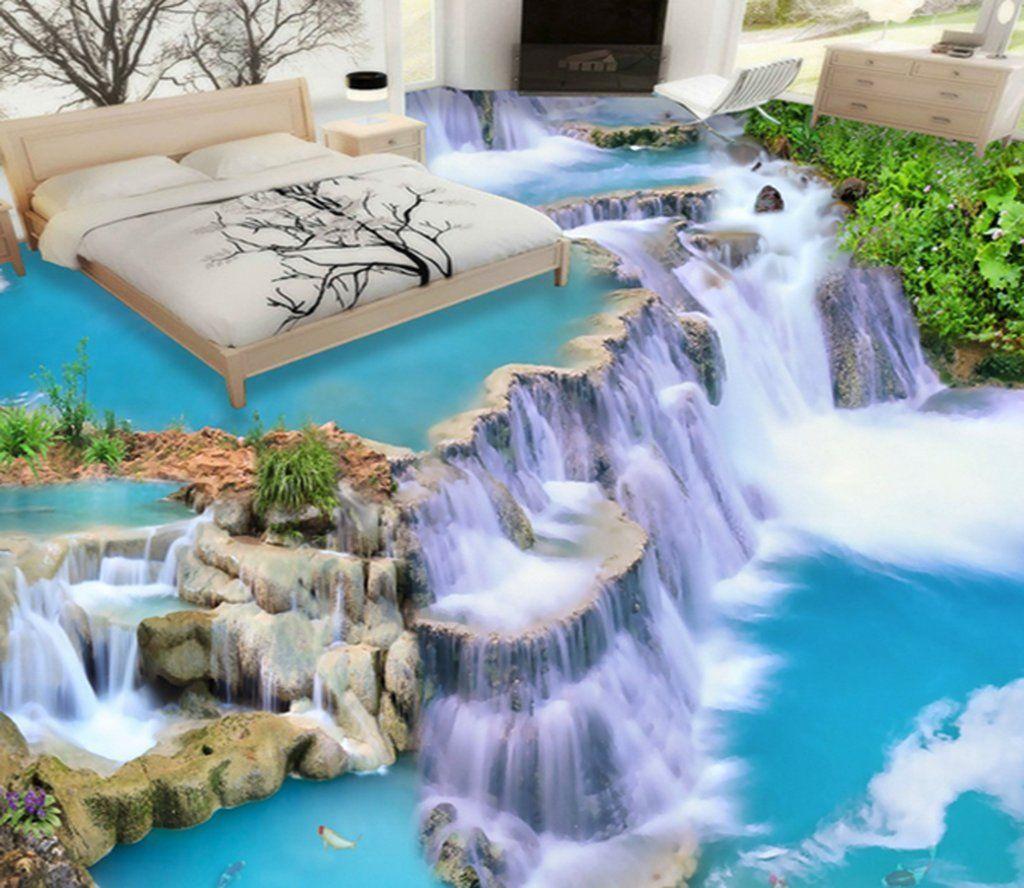 3D Cliff 067 Floor Mural AJ Wallpaper Floor murals