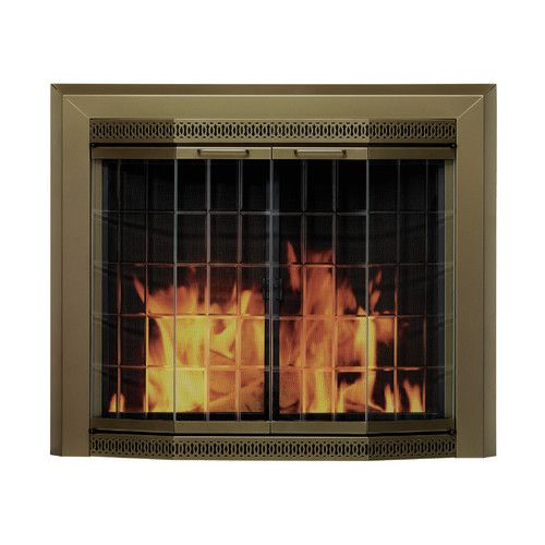 Grandior Bay Bifold Style Steel Fireplace Doors With Images