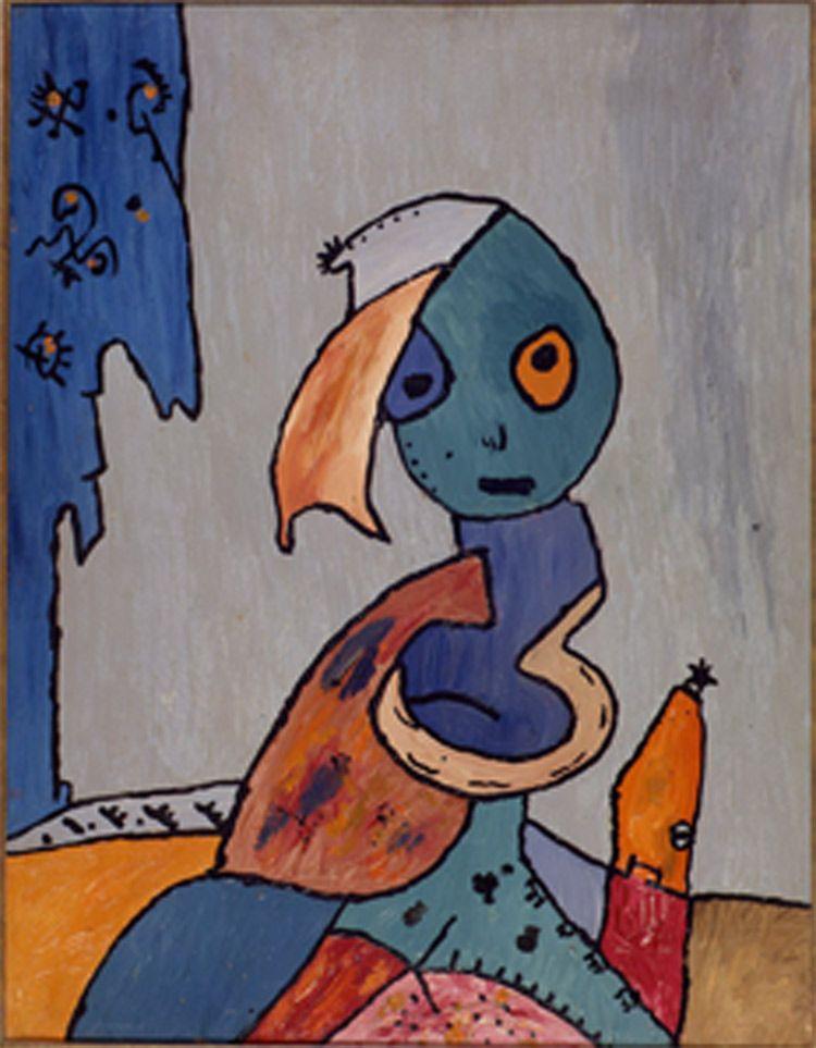 Gaston Chaissac (1910-1964) is een Franse schilder en dichter. De betrekkingen tussen hem en Jean Dubuffet waren tumultueus op zijn zachtst gezegd. (Dubuffet verwijdert een aantal van de makers van art brut groep,  producties- zoals ook het geval is voor Gaston Chaissac).