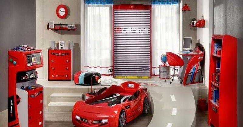 Race Car Bedroom Boy Decorating Idea Bedrooms Kids Ideas Boy Bedroom Design Small Room Design Car Bedroom