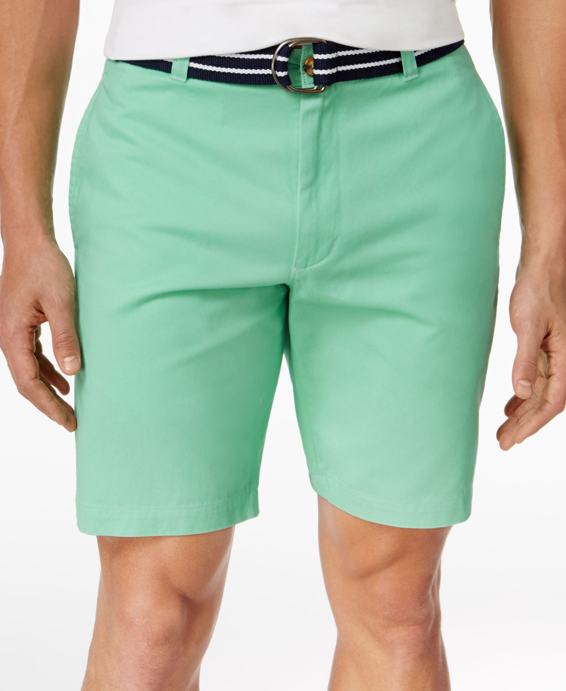 Club Room Men's Flat-Front Cotton Shorts, Only at Macy's | Cotton ...