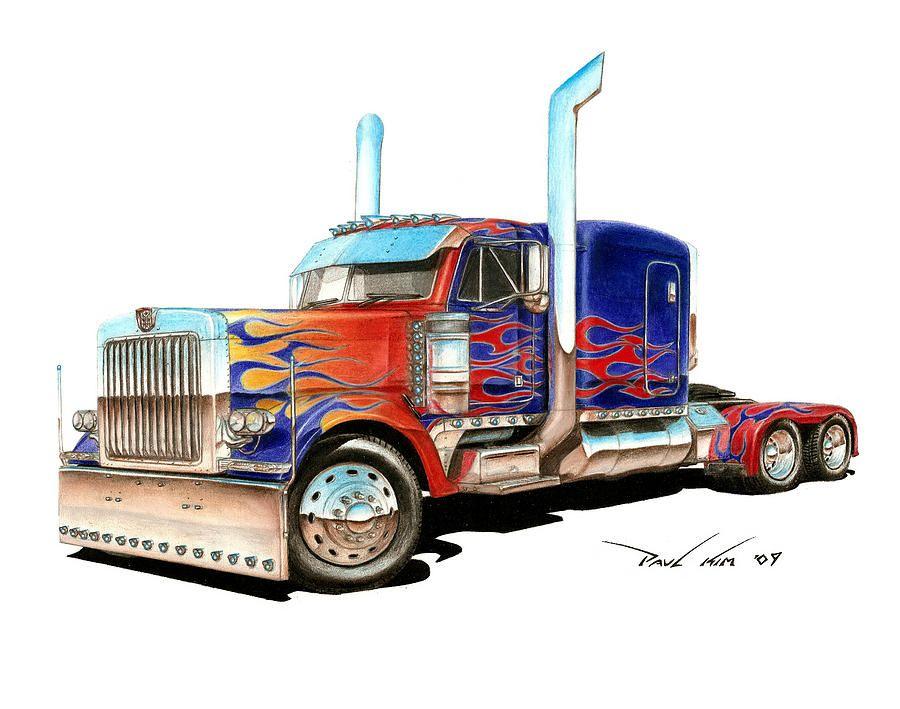 Прикольные рисунки грузовиков