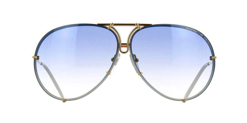 34324b799fc5 Porsche Design 8478 W (Interchangeable Lenses) White and Gold Sunglasses |  Pretavoir