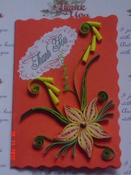 quilled flower quilling quills paper rolling thank you