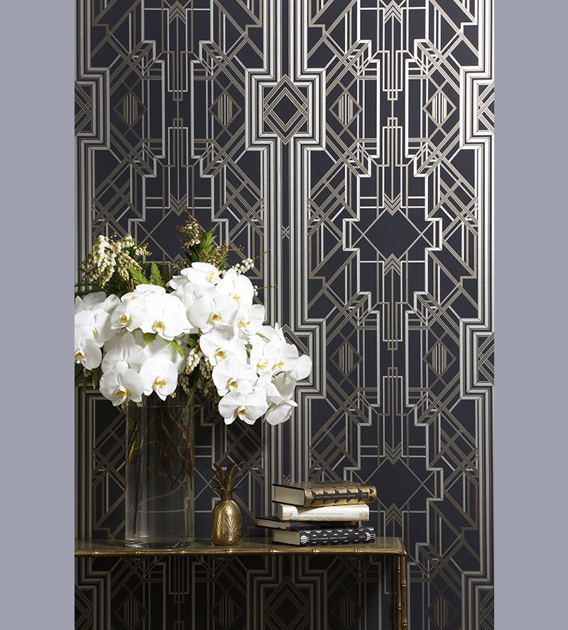 Art deco inspired wallpaper mokum metropolis by catherine for Art deco interior design elements
