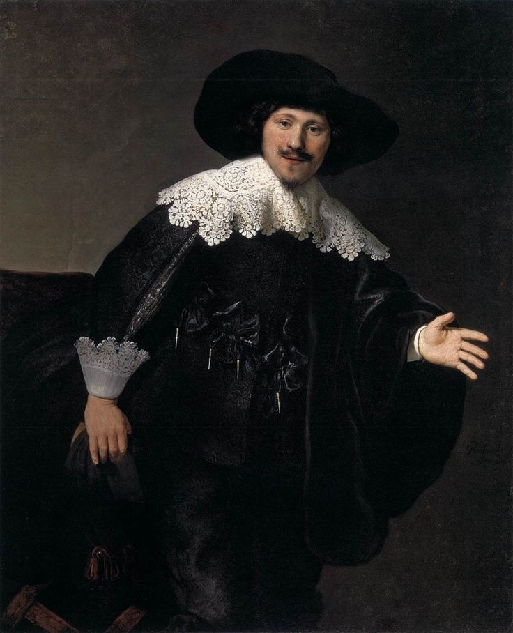 Rembrandt | Portrait of a man Rising From His Chair