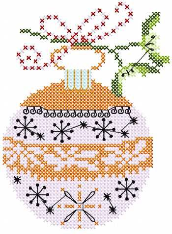 Christmas Ball Cross Stitch Free Embroidery Design 2 Christmas