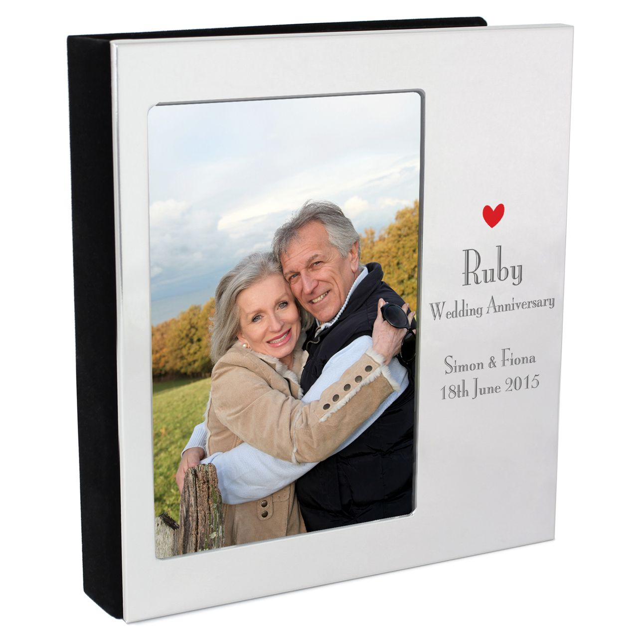 Personalized Ruby Anniversary Photo Frame Album Anniversary Photos 50th Wedding Anniversary Party Personalized Photo Albums
