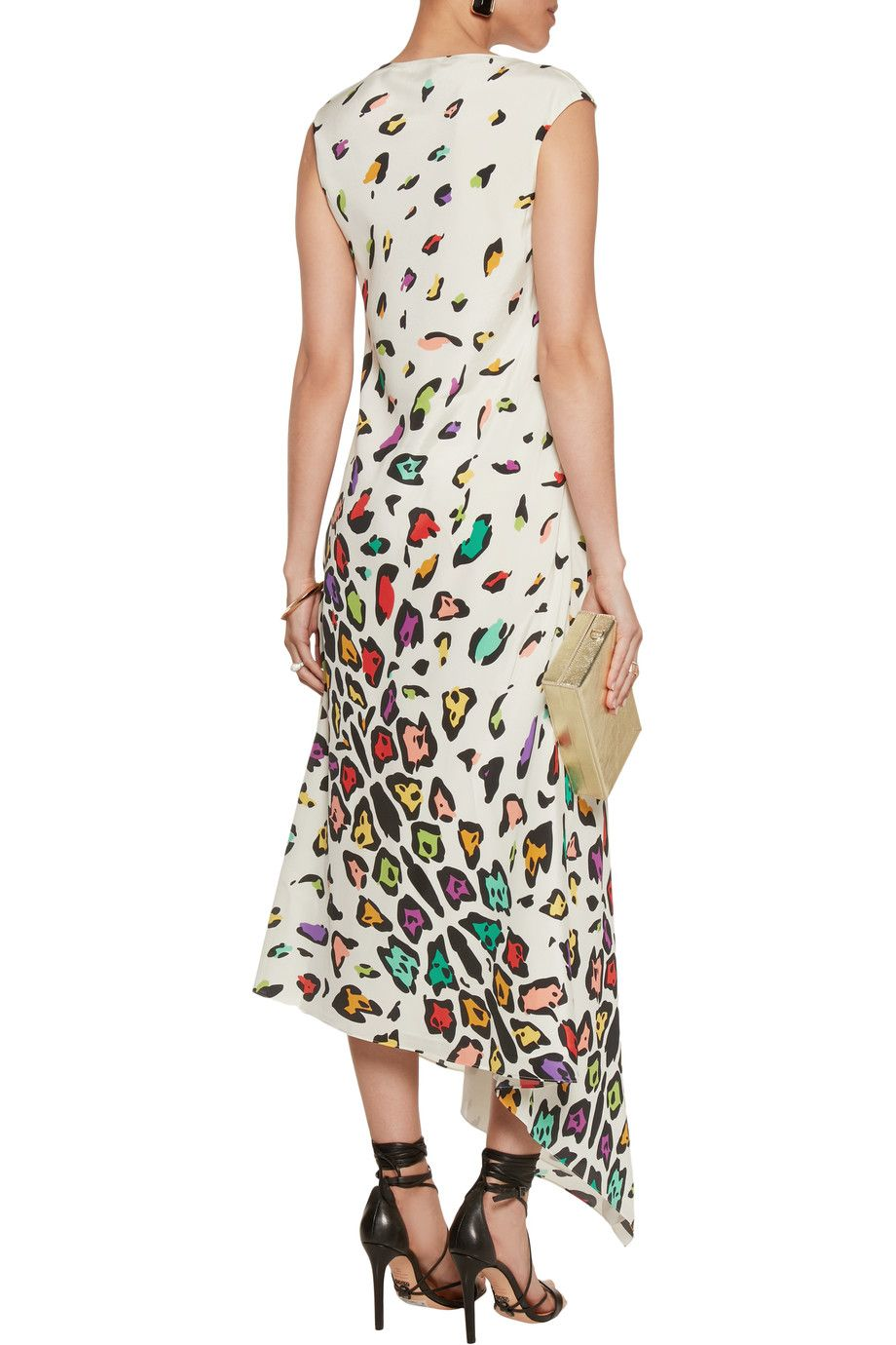 Shop on-sale Missoni Asymmetric printed silk maxi dress. Browse other  discount designer Dresses