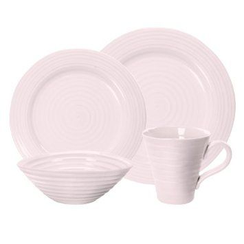 Amazon.com: Portmeirion Sophie Conran Pink 4 Piece Place Setting: Kitchen & Dining