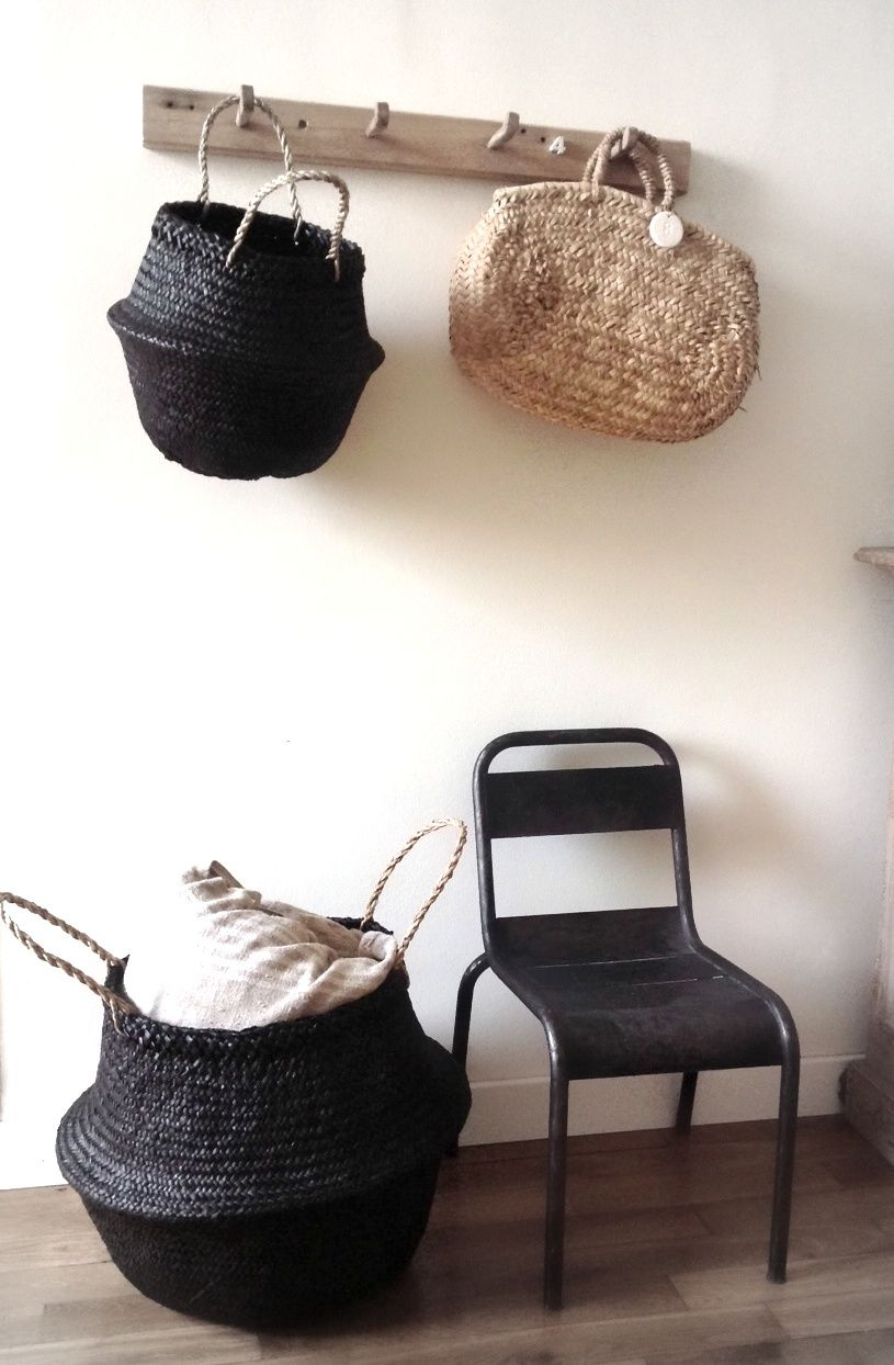 les paniers dans la d co interiors bag and inspiration. Black Bedroom Furniture Sets. Home Design Ideas