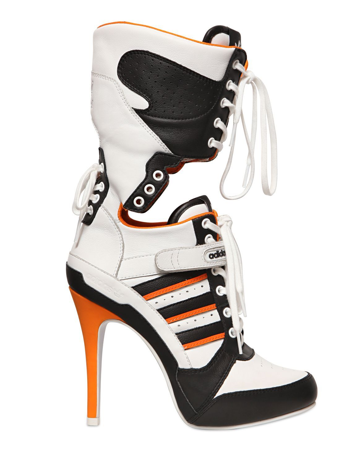3333cdd52b32 ADIDAS BY JEREMY SCOTT 130MM JS HIGH HEEL LEATHER BOOTS - Harley Quinn Shoes  in Suicide