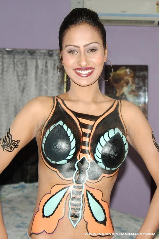 body paint B grade actress