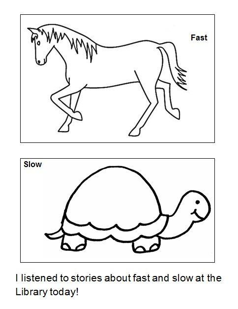 Fast And Slow Worksheets Image Collections Kindergarten Preschool