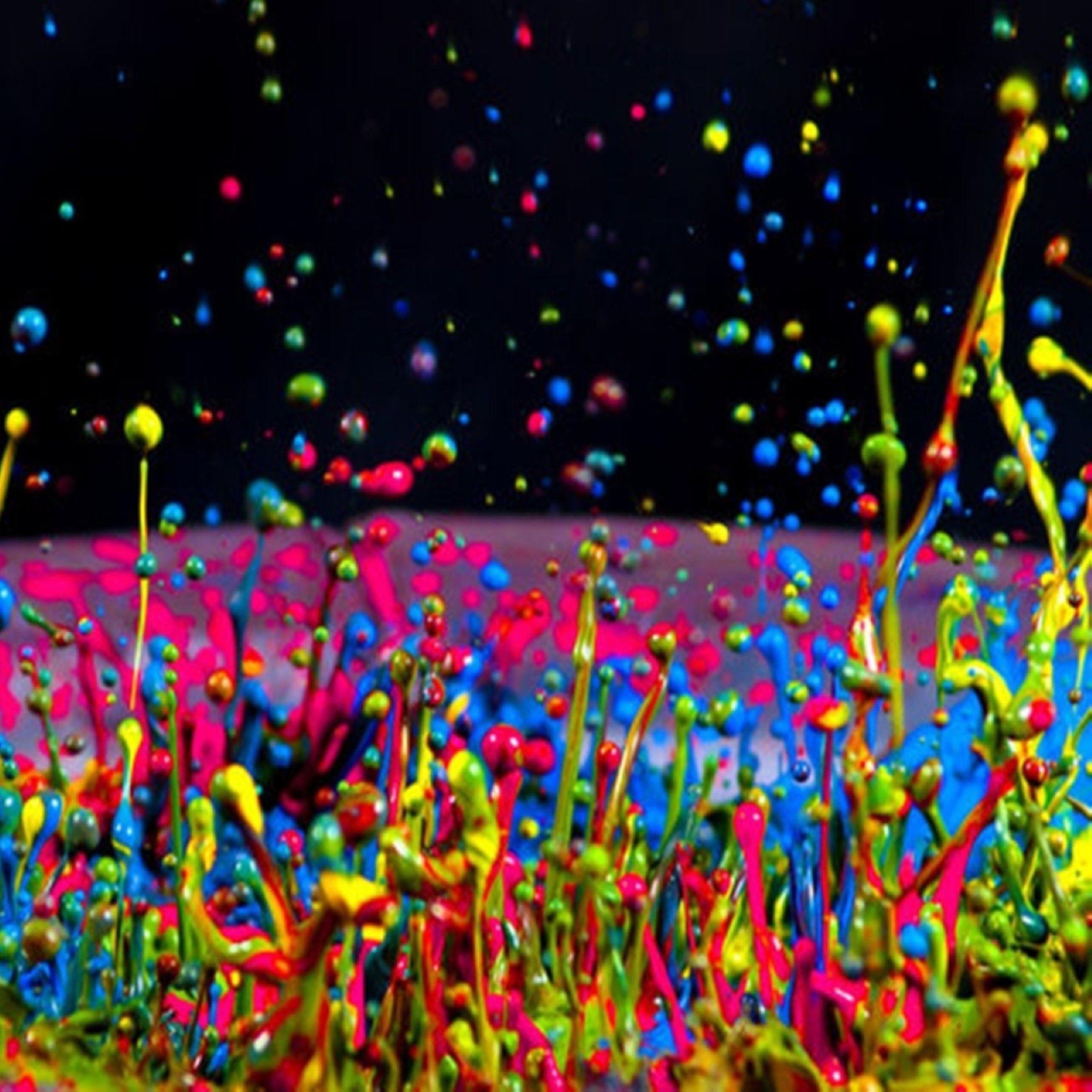 Live Wallpaper For Ipad Wallpapersafari Rainbow Painting Neon Painting Color Splash