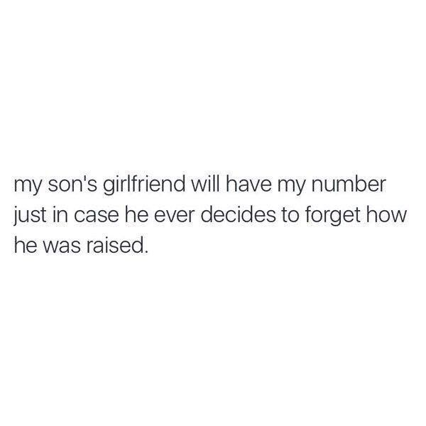 My sonu0027s girlfriend will have my number, just in case he forgets - privacy act release form
