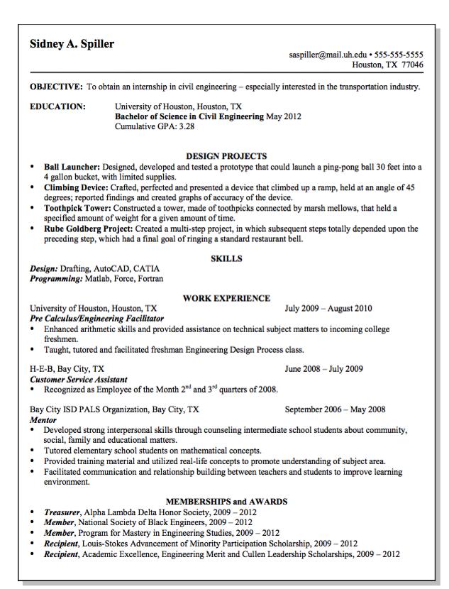 Resume Civil Engineering Houston Tx Free Resume Sample Free Resume Samples Civil Engineering Resume Template Examples