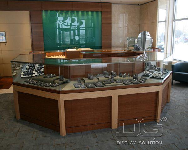 JE137 Modern Wood Shop Jewellery Showroom Counter Design