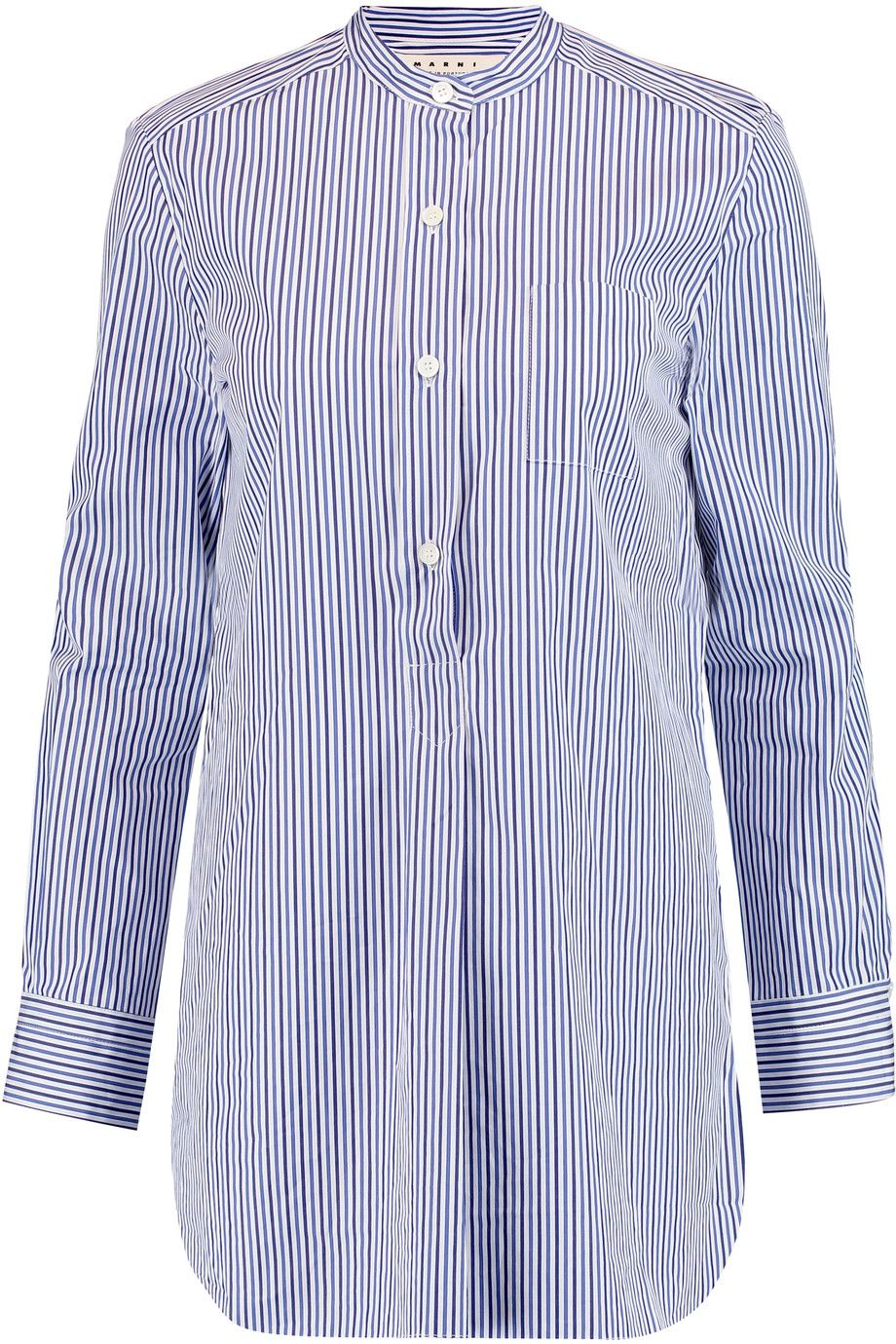 MARNI Striped cotton-poplin shirt. #marni #cloth #shirt