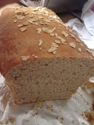 Honey Oat Bread (Bread Machine) recipe from Food.com. Added 1 cup soy  flour, 1/3 cup water = 1.5 pound loaf