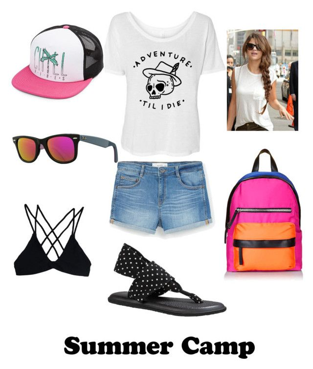"""""""Untitled #62"""" by melissa-roberts-i ❤ liked on Polyvore featuring MANGO, sanuk, Stone Fox, Ray-Ban, Volcom, Topshop, summercamp and 60secondstyle"""