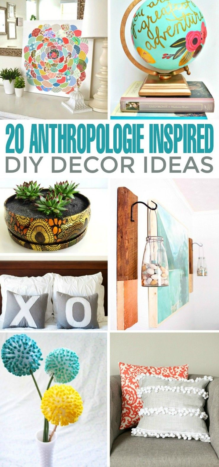 Whether you're in the market for new throw pillows or for a wreath to spice up your home décor, these 20 DIY Anthropologie inspired DIY Decor Ideas will give your space the makeover you've been looking for.