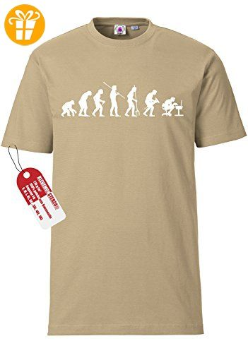 "Original Klebemonster24® Fun T-Shirt ""Evolution Mensch Büro"